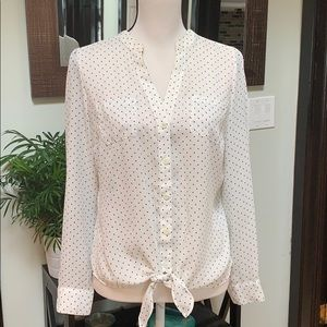 Candies polka dotted laced top